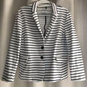 Nautical White + Navy Striped Blazer